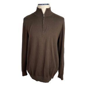 Brown Half-Zip Men's Sweater Old Navy Sz XL